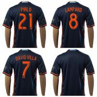 andrea pirlo - 2016 Soccer New York City Jerseys Frank Lampard Andrea Pirlo Football Shirt Uniform Kits Tshirt Custom David Villa MIX NYCFC