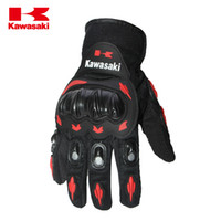 Wholesale 100 Kawasaki Brand Full Finger Gloves Man Woman Guantes Moto Motorcycle Gloves luvas da motocicleta Motocross Gloves for M L XL XXL Size