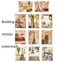 architectural paintings - New Arrival Water Transfer Stamps Manicure Nail Stickers Classical Architectural Decoration Painting Manicure Sticker