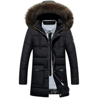 Wholesale Fall New Men s White Duck Down Jacket Mens Brand Winter Jacket Coat Men Fur Collar Hooded Outdoor Down Jacket