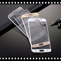 Wholesale For Samsung Galaxy S7 Edge Curved Tempered Glass Colorful Full Front Color LCD D H HD Premium Screen Protector Curve