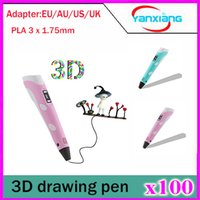 Wholesale 100pcs New Design High Quality D Printing Pen With Free Filament D Pen Best Gift For Kids Printer Pens YX DY