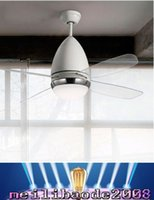 aluminum ceiling fans - Ceiling Fans lights Contracted fashion LED transparent leaves Ivory white droplight sitting room fan quot quot CCC CE RoHS MYY