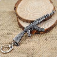 ak rifle accessories - AK47 Model Keychain Cross Fire CF Metal Pendant Key Chain Automatic Rifle ak Gun Figure Jewelry Men Toy Accessories Keyring