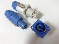 Wholesale 2 set Neutrik PowerCON Type A NAC3FCA NAC3MPA Chassis Plug Panel adapter