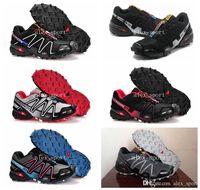 barefoot blue - 2016 Men s Speedcross CS Camo Print Navy Trail Hiking Running Shoes Barefoot Sports Shoes Zapatillas Size