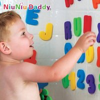 Wholesale Children bath toy set letters numbers cognitive floating toy classic toys multicolor unisex new