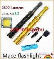 aluminum fish bat - YON Upgrade Baseball bat led flashlight cree XM L2 Lumens mode zoomable Aluminum mace rechargeable led flashlights torch