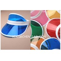 Wholesale 6pcs Summer holiday neon sun visors sunvisor party hat clear plastic cap