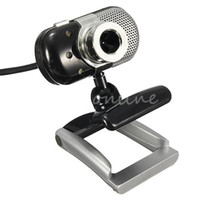 Wholesale NEW Top Quality LED USB Mega CMOS HD Degree Rotation Webcam Web Cam Camera with Mic Microphone For PC Laptop Skype