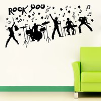 band wallpapers - high quality Fashion Creative Vinyl Band Music Notes Waterproof Living Room Background Wall Decoration Sticker