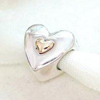 925 en argent sterling 14K véritable or joyeux anniversaire anniversaire charme perles européens Pandora Bijoux Bracelets Colliers Pendentifs