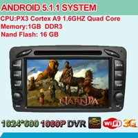 auto stereo systems - Quad Core Kitkat Android System Auto Radio Stereo For Benz W209 SLK W170 CLK C209 C208 W208 W163 Car DVD GPS Navi BT IPOD WIFI G RDS