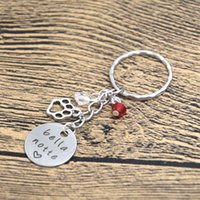 bella dogs - 12pcs Valentine s Day Keyring Bella Notte keychain Silver tone crystals Valentine s Day Gift Dog Lover True Love