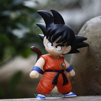 Wholesale DRAGON BALL Z DBZ Son Goku quot High Small Anime PVC Figure Doll Super Saiyan Figurines New DRAGOLL