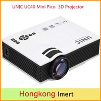 Wholesale 2016 Newest Original UNIC UC40 Mini Pico portable D Projector HDMI Home Theater beamer multimedia projector Full HD P video