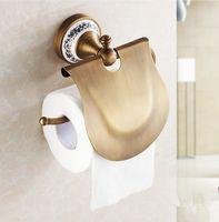 Wholesale 2016 Bathroom Accessories Antique Bronze Finish Toilet Paper Holder Creative Design Brass Paper Towel Holder Fashion Roll Holder