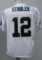 Wholesale Ken Stabler Jersey Throwback Football Jersey Best quality Authentic Jersey Size M L XL XXL XXXL Accept Mix Order