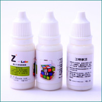Wholesale 1pcs Z lube Cube Oil ml Lubricant Lube Oil for Speed Puzzle Magic Cube Best Silicone Lubricants Cube Related Toy