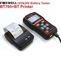 audi fl - Genuine Foxwell BT705 V V Check Battery Health Analyzer Tester Regular Fl with Bluetooth Printer for Foxwell BT705 Battery Analyzer