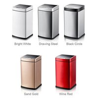 Wholesale Smart Sensor Trash Can Stainless Steel Induction Dustbin Environmmentally Plastic Home Automatic Waste Bin