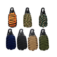 Wholesale 12 IN EDC Paracord Grenade Emergency Kit Knife Fire Starter Fishing Tools Pocket for Outdoor Camping Survival RL21
