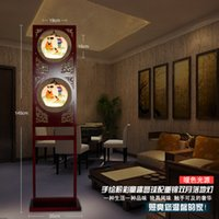 Wholesale New House Art Deco Light Floor Lamp Porcelain Kids Painting Lampshade The Standard Lamp Comfortable And Warm Your Home