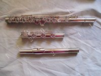 Wholesale New Professional open hole flute C Key Split E silver plated Great tone