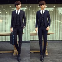 the four seasons - New men in Europe and the wind fashionable suit three piece han edition cultivate one s morality of the four seasons small suit