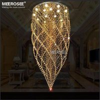 amber surface - Large Crystal Ceiling Lights Fixture Amber Crystal Light lustre de cristal Lamp for Stair Staircase with GU10 bulbs Dia mm