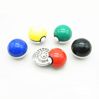 aluminum games - Tobacco Herb Crusher Grinder Aluminum mm Parts Newest Game Pok e mon and Pok e ball Pikachu Design with Luxury Giftbox