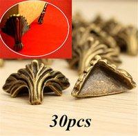 Wholesale 30PCs Dorabeads Box Corner Foot Protector Desk Box Edge Antique Bronze Pattern Carved mm x mm
