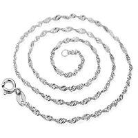 Wholesale China Wholesale High End Jewelry - silver necklace female models wave chain of high-end women's jewelry, vintage jewelry silver jewelry top 40cm 45CM 50cm 55cm 60cm 65cm 70cm