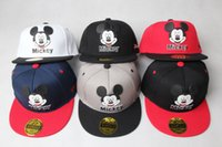 Cheap New Mickey Mouse Kids Cartoon Snapback Caps Donald Duck child baseball cap childrens hats Free Shipping