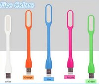 Wholesale USB Lamp Flexible Mini LED Light Candy Color Portable Night lights usb Lights For Tablet PC Power Notebook USB light Outdoor