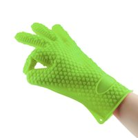 Wholesale 1PC Heat Resistant Silicone Glove Cooking Baking BBQ Oven Pot Holder Mitt Kitchen