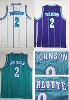 Wholesale Stitched Mesh Men s Larry Johnson Jerseys Bogues Best Quality Accept Mix Order