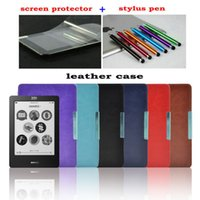 Wholesale Magnetic PU leather cover case funda for Kobo touch N905 A B C ereader inch quot shell free shipp screen protector Stylus Pen