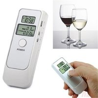 abs detectors - DHL Portble Home Dual Display ABS Material Breath Breathalyzer Digital Alcostop Mouthpiece Breath Alcohol Tester Detector