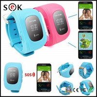 Chercheur d'enfants France-Hot sell Q50 kid gps tracker intelligent Montre SOS Call Location Finder Locator Tracker smartwatch pour enfant Enfants Anti Lost Monitor Baby Son