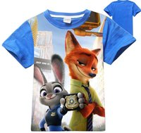 big blue dvd - children zootopia crazy city animal big virgin child short sleeve T shirt Blue ray dvd movies Zootopia Cartoon Mov