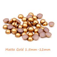 animal food machine - 2016 New Matte Gold Half Round Pearls mm mm Imitation Machine Cut Round Flatback Beads DIY Jewelry Making Nails Art Phone