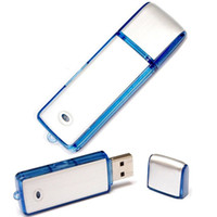 Wholesale GB SK858 USB Digital Voice Recorder Flash Drive For Meetings Presentations With On off Switch Button Blue