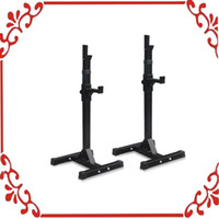 Wholesale Pair of Adjustable Rack Sturdy Steel Squat Barbell Free Bench Press Stands GYM