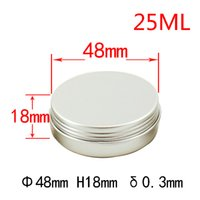 aluminium canisters - New arrival ml mm Lotion Canister Food grade aluminium cans Aluminum Jar Tea Cosmetics Packing