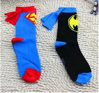 baby cloak cape - 3 to Yrs New Avengers Superhero Children Pure Cotton Socks superman cartoon batman new girls baby children pure cotton with cloak cape