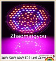 Wholesale 1pcs V V W W W E27 Led Grow light Lamp For Plants Vegetables Full Spectrum Plant light Hydroponic System Bloom