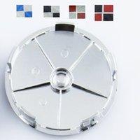 Wholesale 4pcs mm Car Emblem Modified Blue Black Red Carbon Fiber Wheel Center Hub Caps wheel Badge Covers from alisy