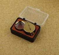 Wholesale 10X Jewelry Identifying Magnifiers Antique silver plated metal DHL delivery Loupes for Jewelry Portable Loupes