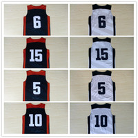Wholesale 2012 USA Basketball Jersey Top Quality Stitched Dream Team USA Basketball Jersey Blue White